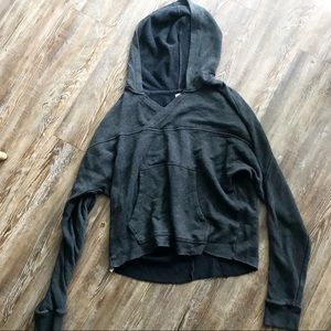 Anthropologie / Dark Grey Hooded Sweatshirt